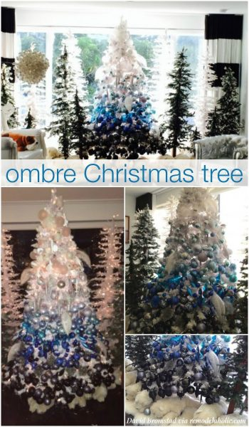 DIY Ombre Christmas Tree - David Bromstad via @Remodelaholic