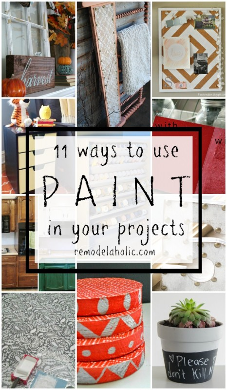 DIY Updates Using Paint @Remodelaholic