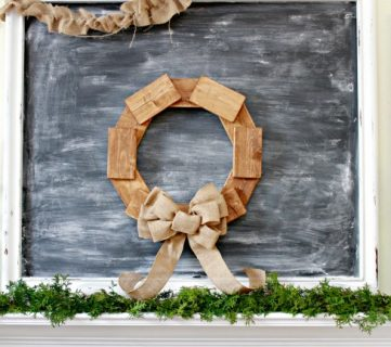 Rustic Scrap Wood Wreath