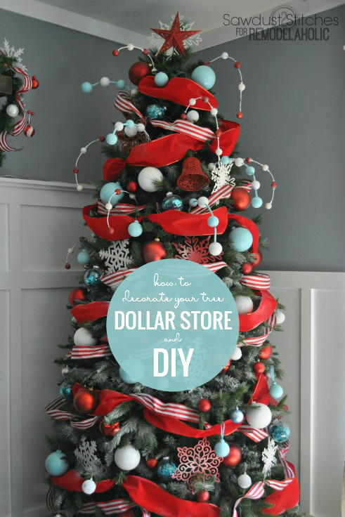 diy christmas ornaments and upcycled dollar store ornaments for a custom christmas tree sawdust 2