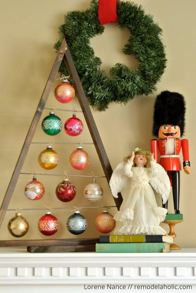 Diy ornament display tree remodelaholic lovin