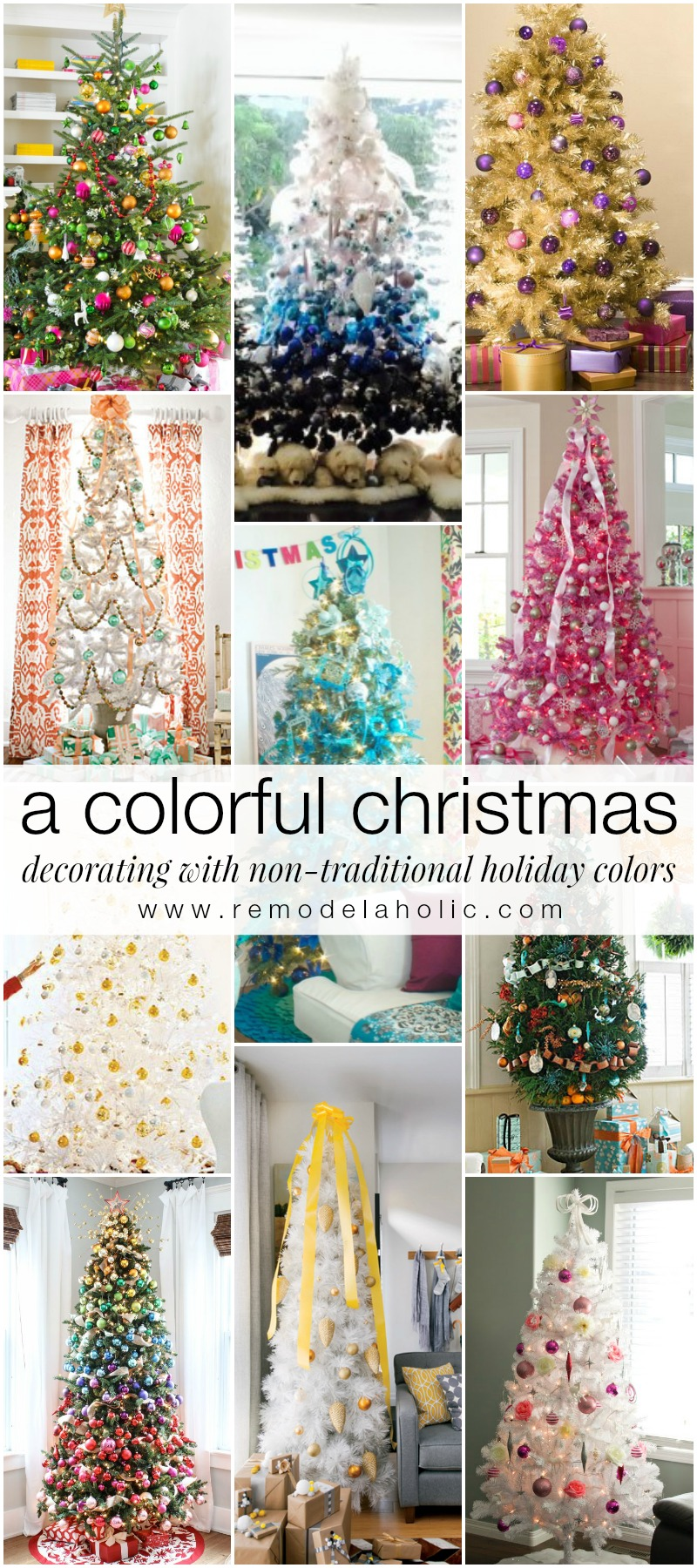 decorating with non traditional christmas colors remodeaholic holidays decorating christmas - Colorful Christmas Decorations