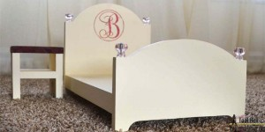 Doll bed and nightstand feature