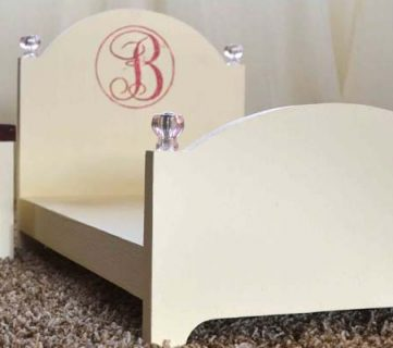 How to Build a Doll Bed and Nightstand; Day 4