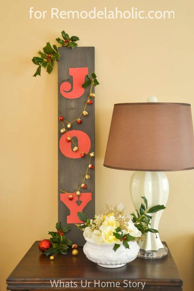 Driftwood JOY sign