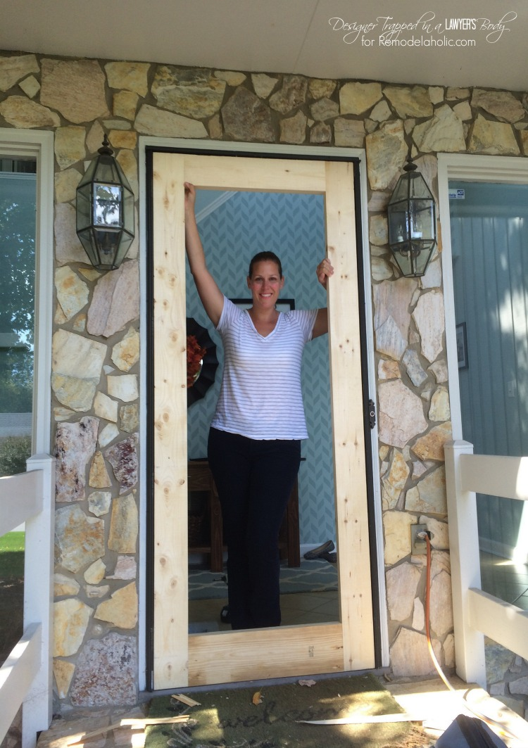 Merveilleux DIY Screen Door Tutorial By Designer Trapped In A Lawyeru0027s Body For  Remodelaholic.com.