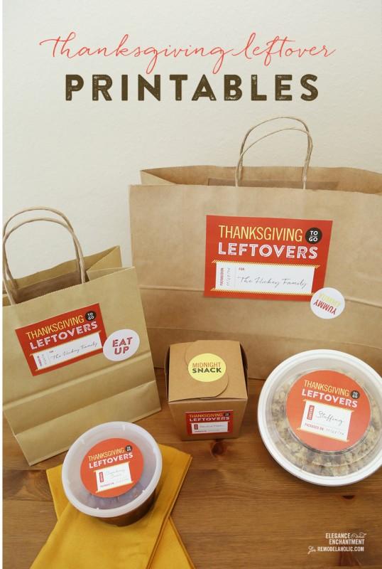 Thanksgiving Leftover Printables from Elegance & Enchantment for @Remodelaholic #thanksgiving #printable #leftovers