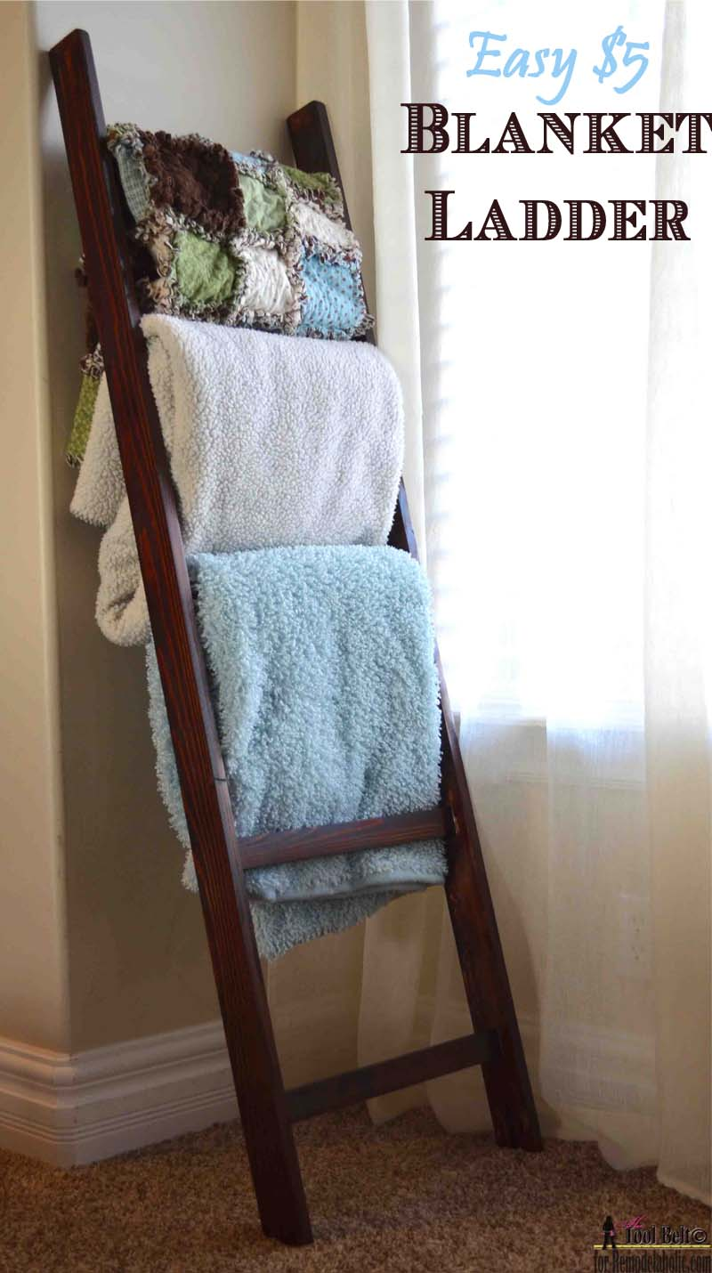 Build an Easy Blanket Ladder for just $5 | Remodelaholic | Bloglovin\'
