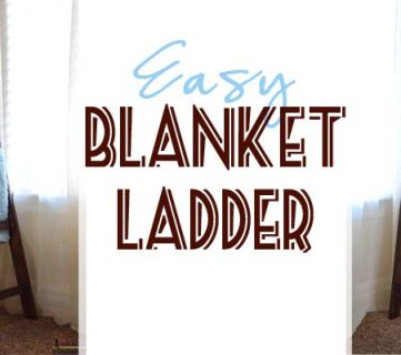 Build an Easy Blanket Ladder for just $5