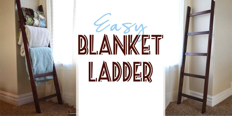 Remodelaholic Build An Easy Blanket Ladder For Just 5