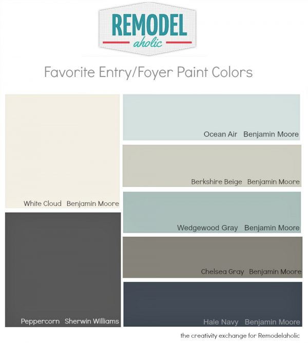 Best Paint Colors For Hallways remodelaholic | favorite entryway and foyer paint colors