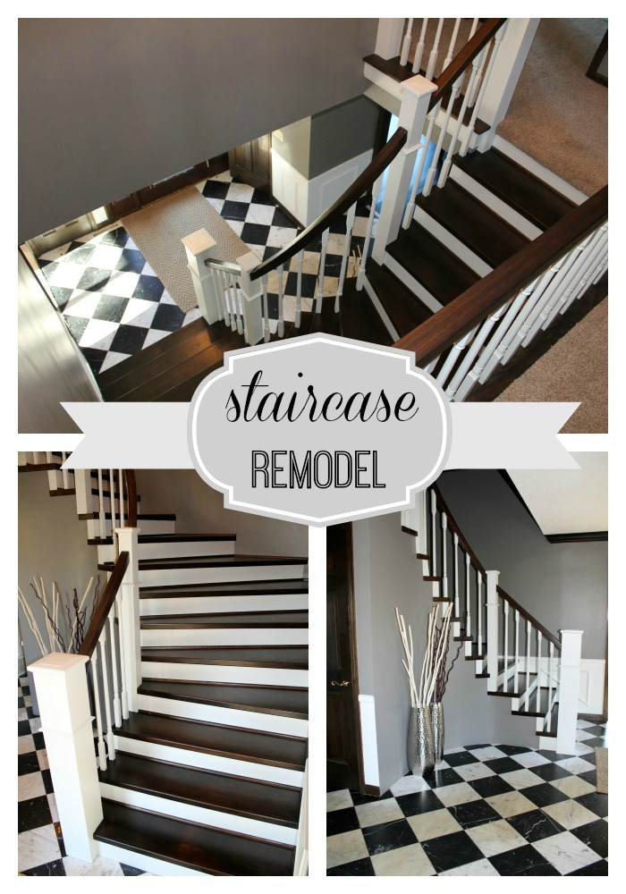 Remodelaholic Curved Staircase Remodel With New Handrail