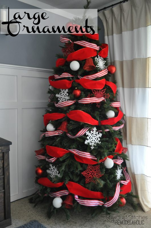 how to decorate a christmas tree like a professional remodelaholic sawdust2stitches - Large Red Christmas Decorations