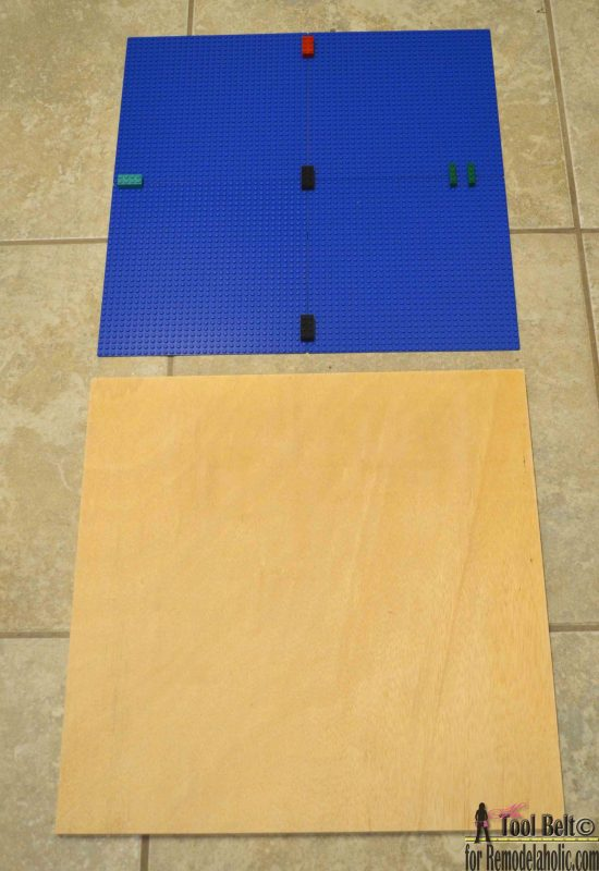 Easy DIY Lego building tray tutorial.  A Lego tray is a perfect place for your kids to create, play and display their amazing Lego creations.
