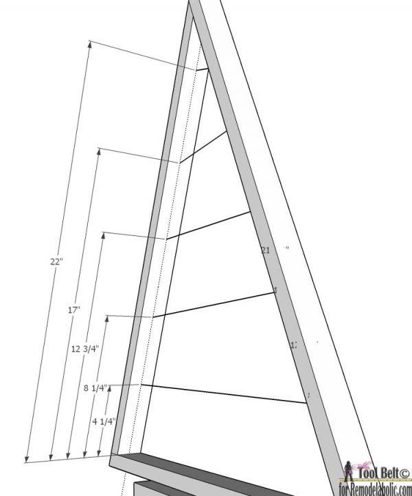 Ornament Tree- short arm dimensions