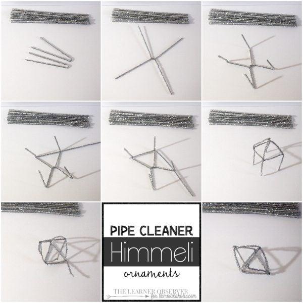Pipe Cleaner Himmeli Ornaments - The Learner Observer for Remodelaholic.com