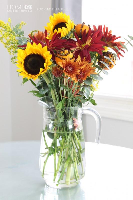 Pomanders - flower arrangement - for Remodelaholic