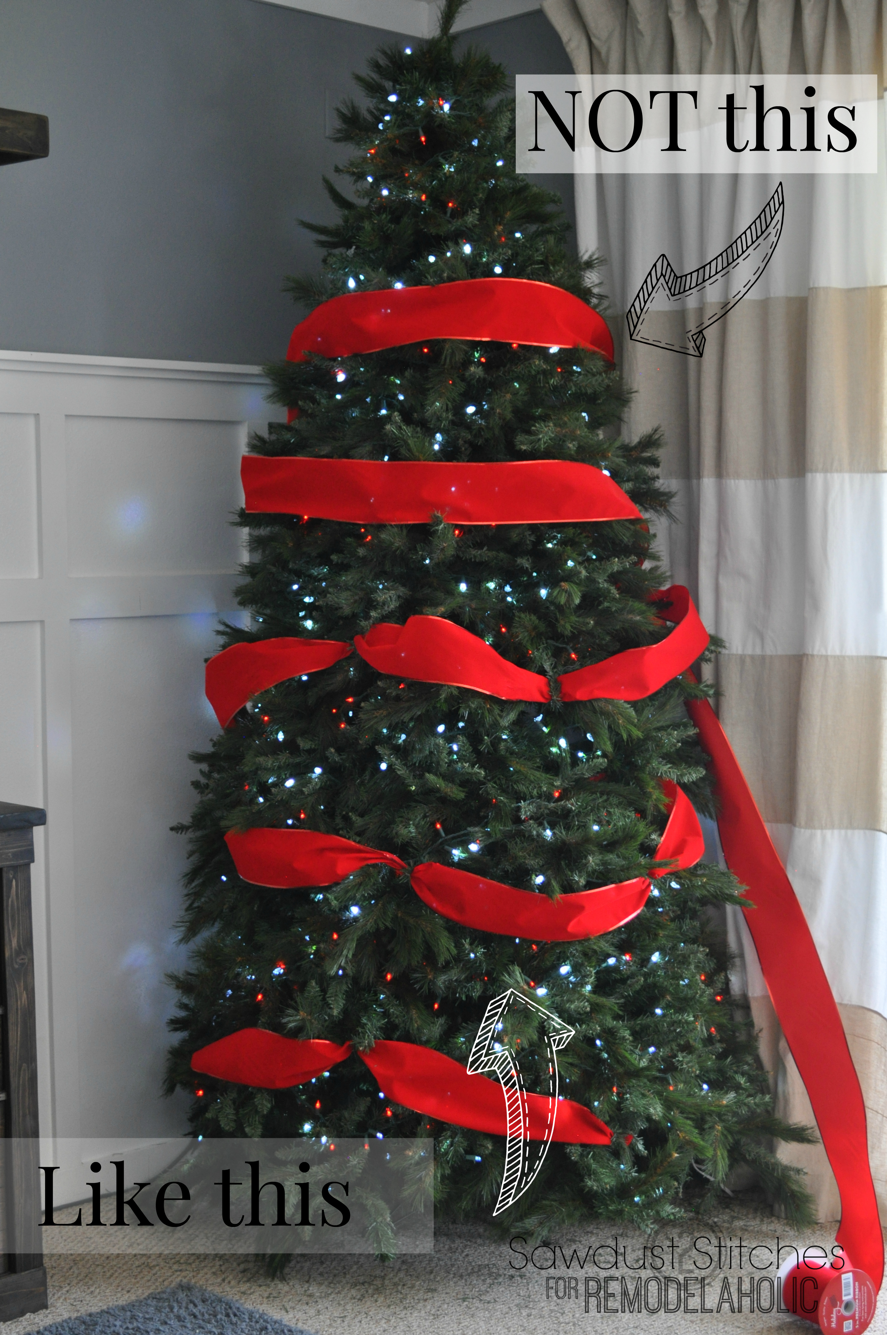 how to decorate a christmas tree like a professional remodelaholic sawdust2stitches
