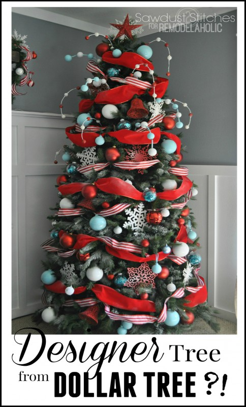 how to decorate a christmas tree a designer look from the dollar store remodelaholic bloglovin - Steps To Decorating A Christmas Tree