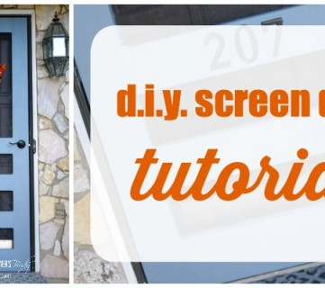 DIY Screen Door tutorial by Designer Trapped in a Lawyer's Body for Remodelaholic.com. #diyscreendoor #diydoor