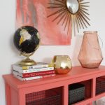 Sherwin-Williams Coral Reef Painted Console Table @Remodelaholic-020