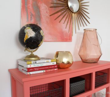 Sherwin-Williams Coral Reef Entry Table