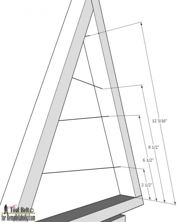 Small Ornament Tree- long arm dimensions