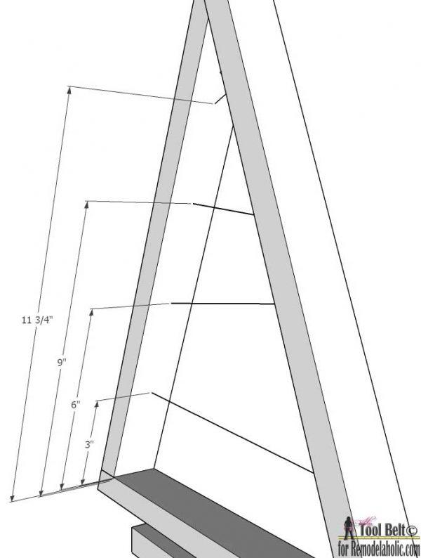Small Ornament Tree- short arm dimensions
