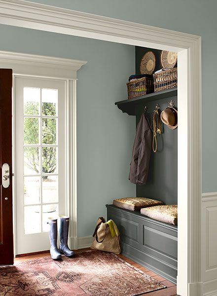 Gray Foyer Colors : Benjamin moore wedgewood gray paint color car interior
