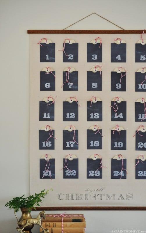 advent calendar paper wall pockets