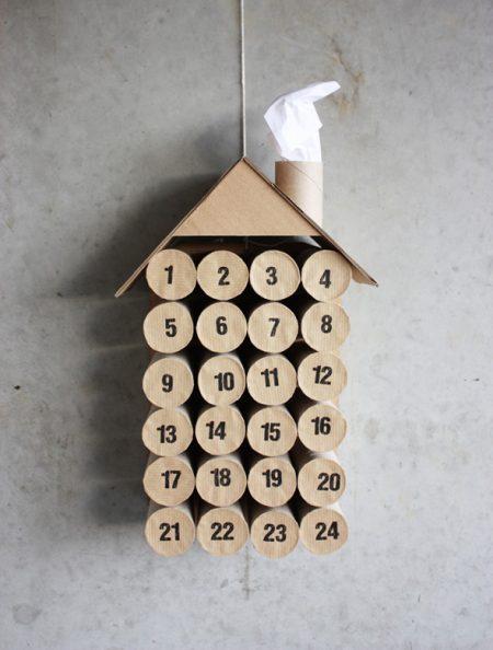 advent calendar toilet paper tube rolls