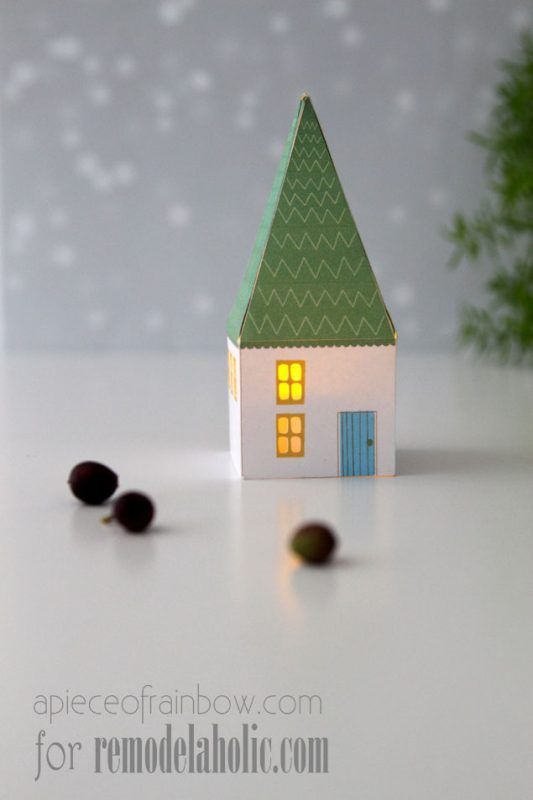 Printable Mini House Luminaries   A Piece of Rainbow for @Remodelaholic