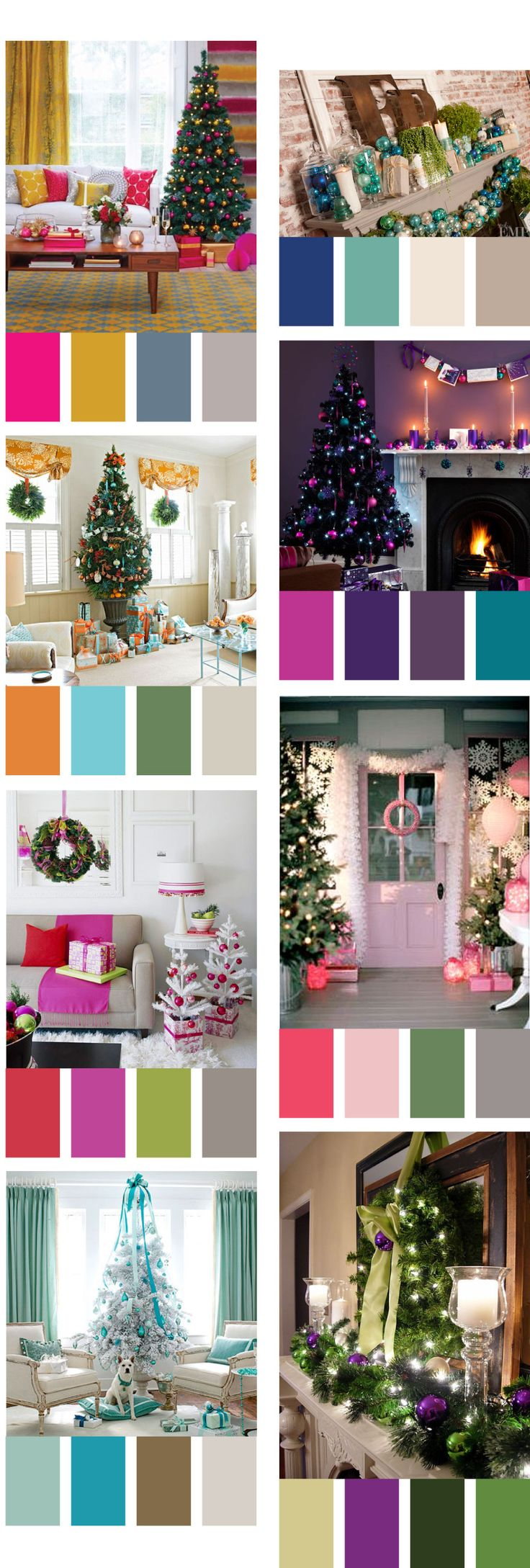 Remodelaholic decorating with non traditional christmas Decorating color schemes