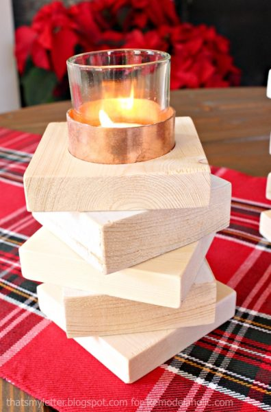 copper & wood candle holders 4