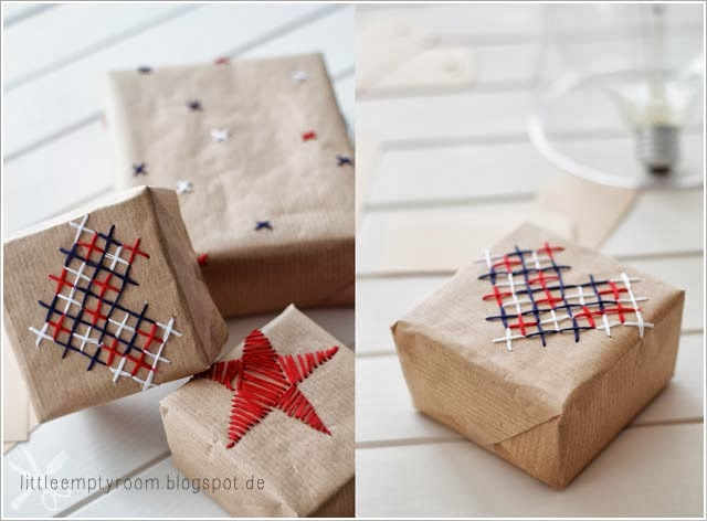 embroidered craft paper