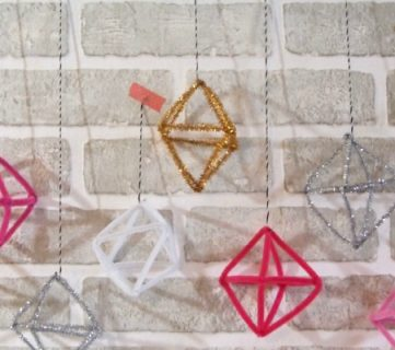 DIY Pipe Cleaner Himmeli Ornaments; Day 2