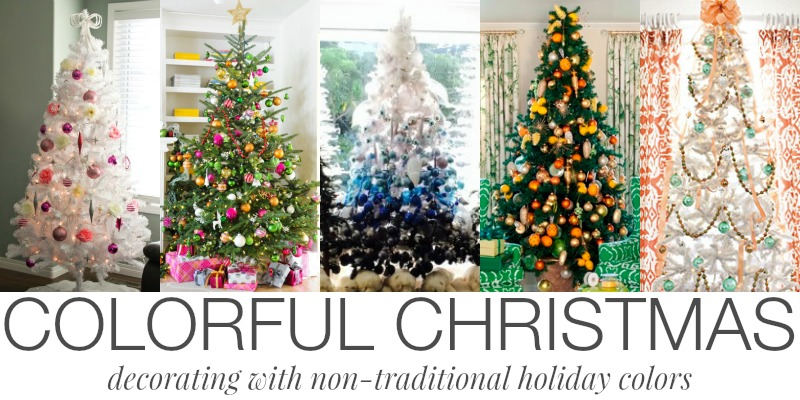 remodelaholic decorating with non traditional christmas colors - Colorful Christmas Decorations
