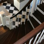feature remodel curved staircase from carpet to wood  - Construction2Style via @Remodelaholic