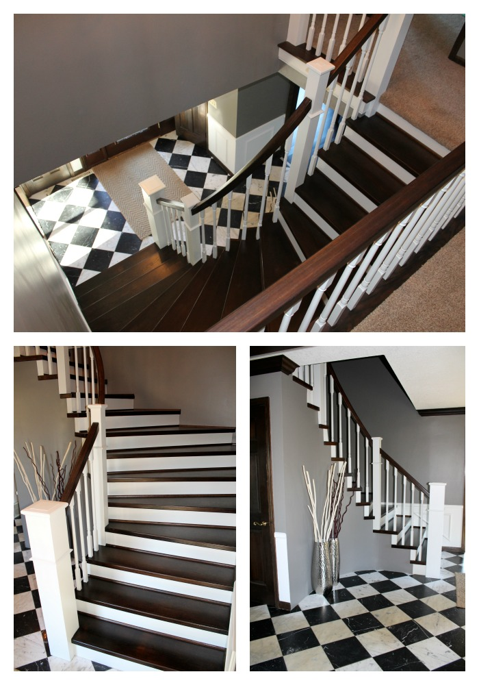 Finished Curved Staircase Remodel   Construction2Style Via @Remodelaholic