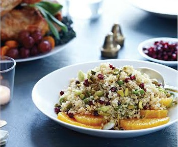 Quinoa with Pomegranate and Pistachio