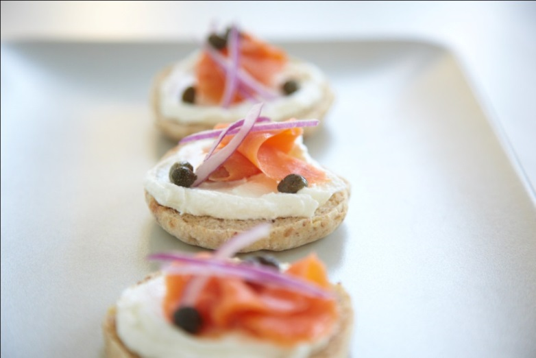 Remodelaholic salmon and cream cheese canap s for Cream cheese canape