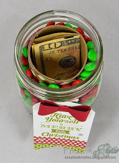 gift wrapping hidden gift in mason jar