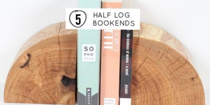Easy DIY Rustic Log Bookends