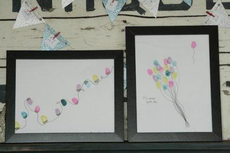holiday gift idea - fingerprint art