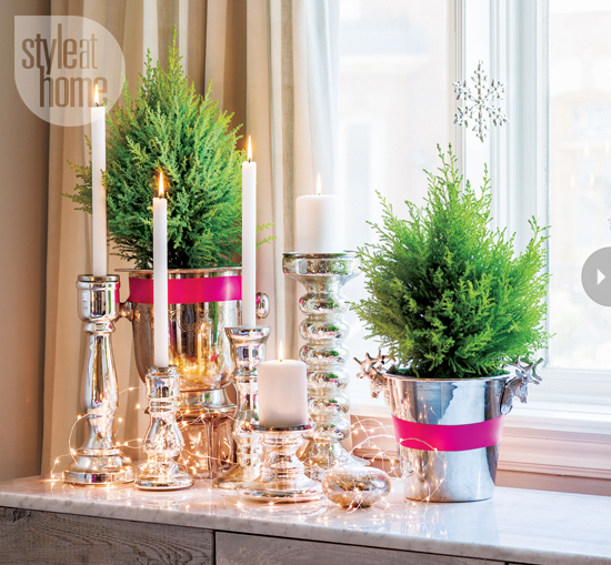 Non-traditional Holiday Colors @Remodelaholic