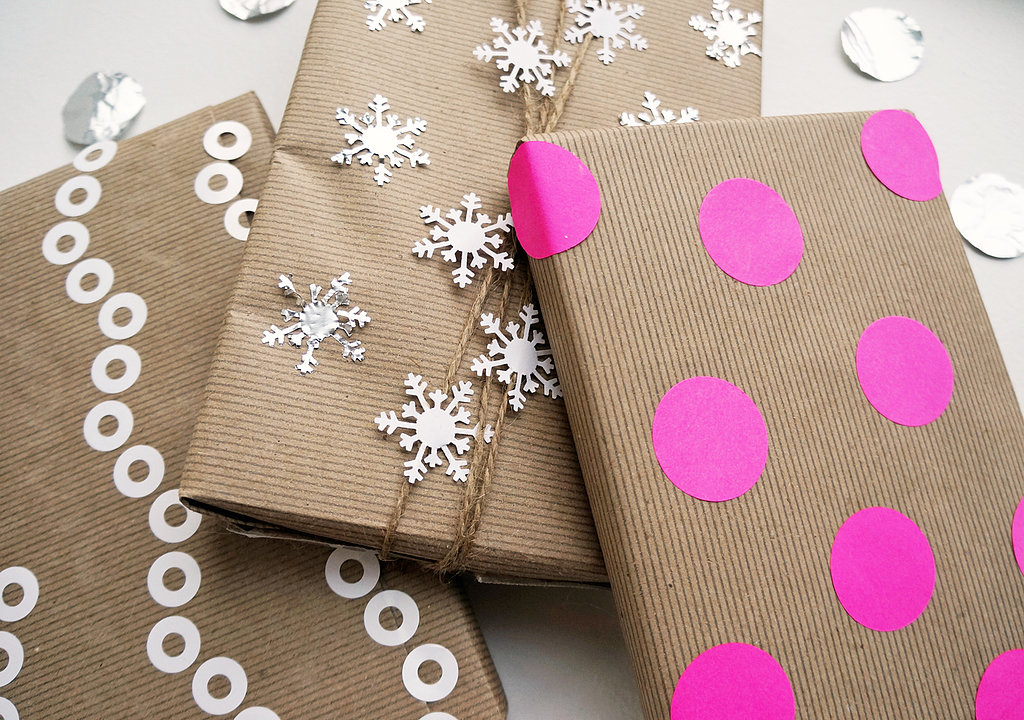kraft paper with stickers