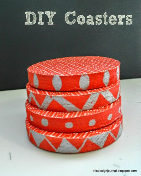 paint and modpodge coasters, This Design Journal via @Remodelaholic