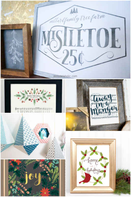 Printable Christmas Decorations Gifts And Ornaments, Remodelaholic