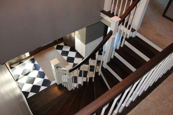 remodel curved staircase from carpet to wood  - Construction2Style via @Remodelaholic