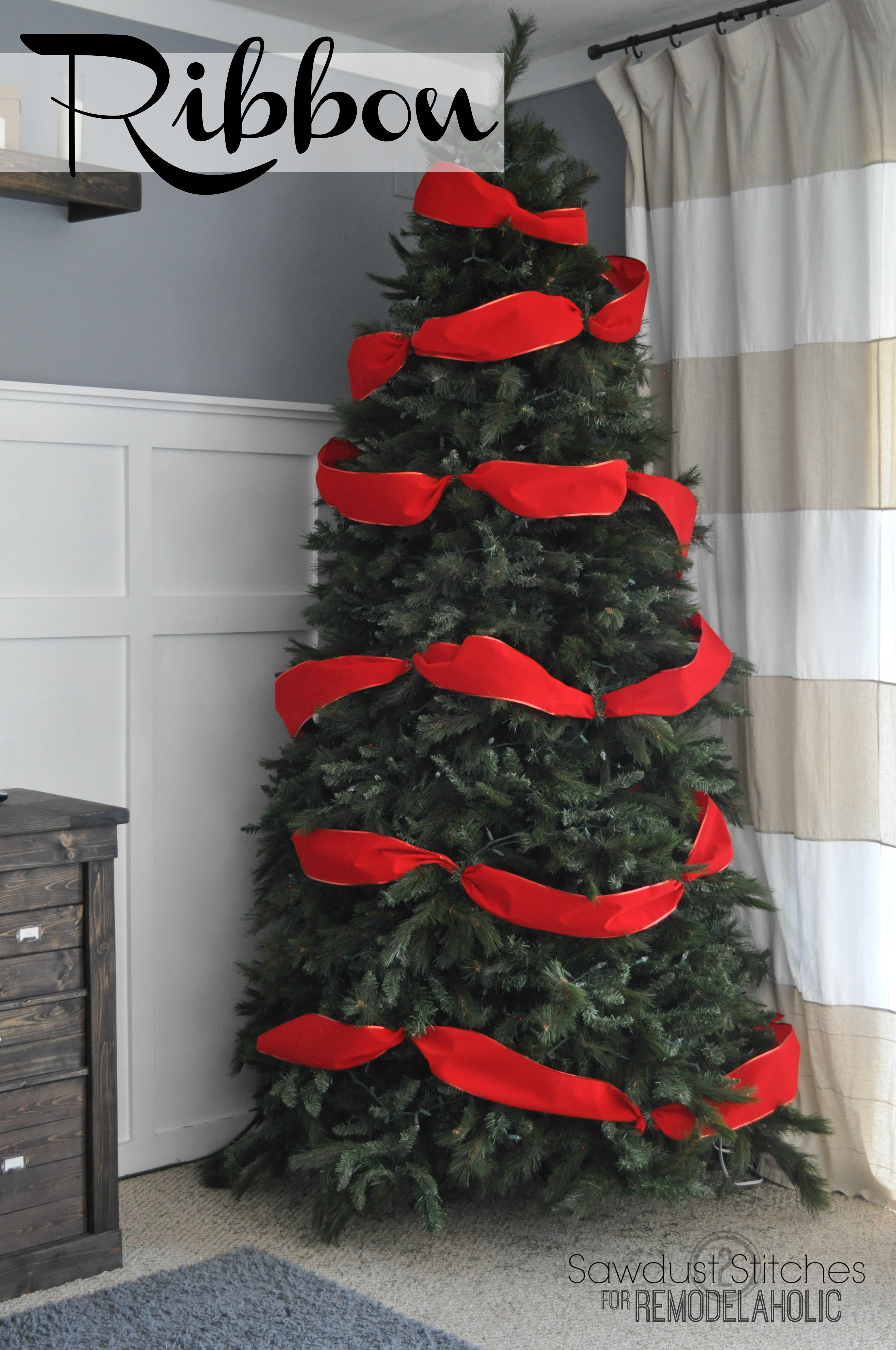 how to decorate a christmas tree like a professional remodelaholic sawdust2stitches seriously ribbon